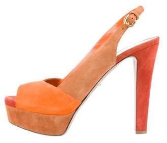 Sergio Rossi Platform Slingback Sandals