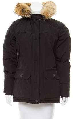 Woolrich Fur-Trimmed Down Coat
