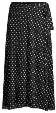 Fuzzi Swim Polka Dot Wrap Midi Skirt