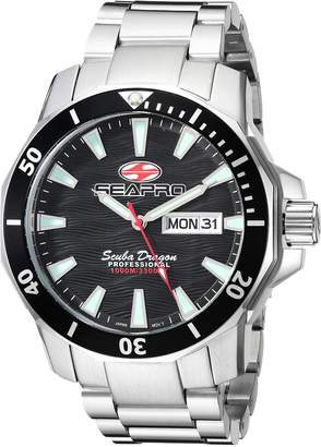 Seapro Men's Casual Scuba Dragon Diver Limited Edition 1000 Meters Dial Quartz Watch (Model: SP8310S)