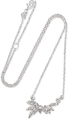 Stephen Webster Hearts On Fire White Kites 18-karat White Gold Diamond Necklace