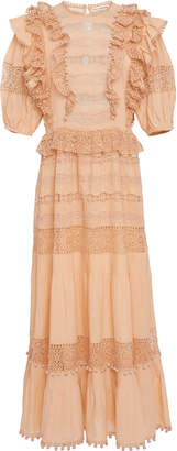 Ulla Johnson Guinivere Cotton Blend Ruffle Maxi Dress