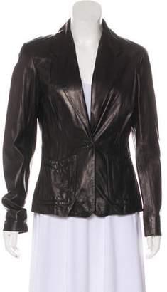 Anna Sui Lightweight Leather Blazer