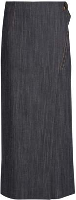 ADAM by Adam Lippes Denim wrap skirt