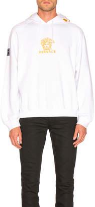 Versace Hoodie in White & Black | FWRD