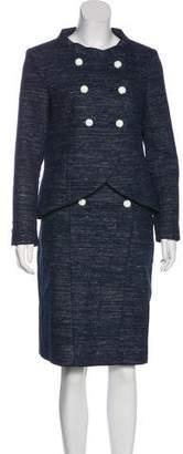 Chanel Metallic Tweed Skirt Suit