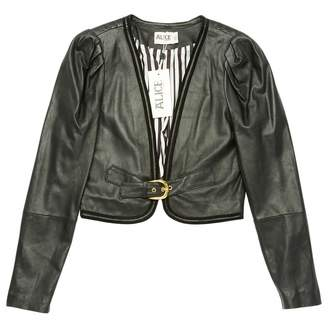 ALICE by Temperley Black Leather Jackets