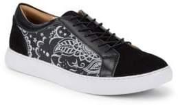 Robert Graham Graphic Leather Low-Top Sneakers