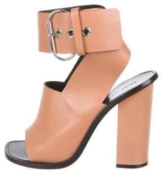 Celine Leather Wrap-Around Sandals