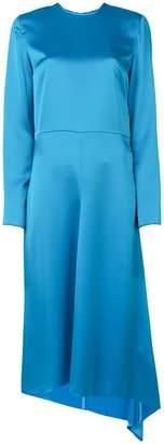 MSGM asymmetric midi dress
