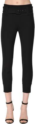 Prada Skinny Belted Tech Gabardine Pants