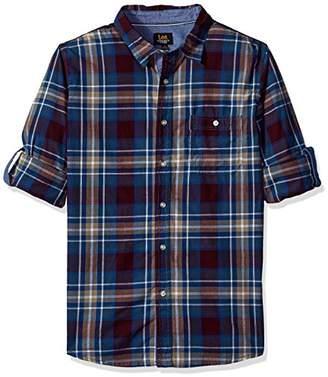 Lee Men's Long Sleeve Stretch Button Down Shirt
