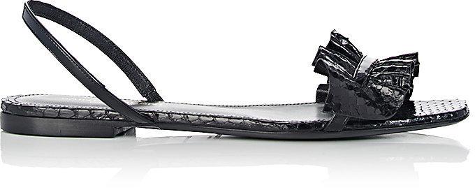 Saint Laurent Women's Nu Pieds Snakeskin & Leather Slingback Sandals