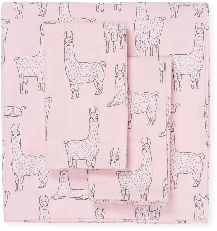 Llama Flannel Sheet Set