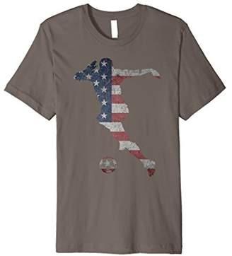 US National Team Football Dribble American Flag Soccer Shirt