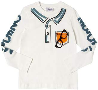 Moschino Flocked Sunglasses Cotton Jersey T-Shirt