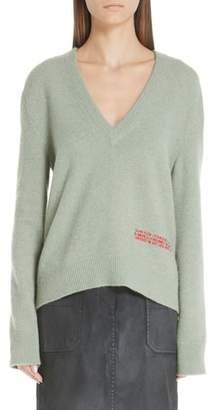 Calvin Klein Logo Embroidered Wool & Cotton Sweater