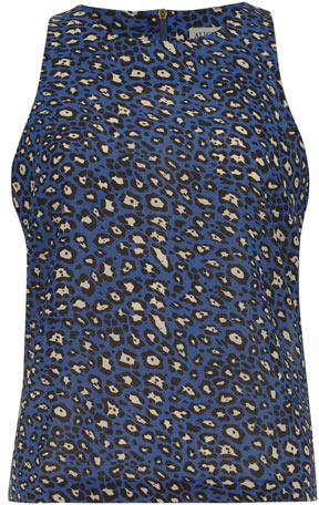 Dorothy Perkins Blue leopard sleeveless top