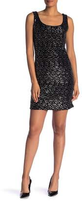 Modern American Designer U-Neck Sequin Sleeveless Dress
