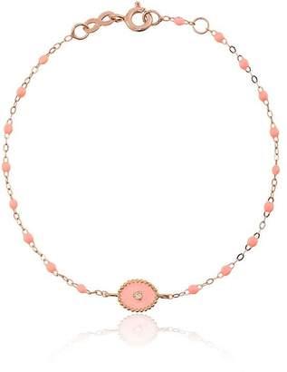 Gigi Clozeau salmon pink RG bead diamond and rose gold bracelet