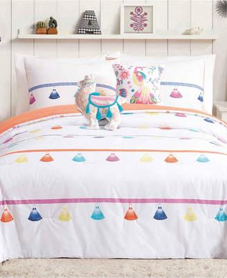 Urban Playground Painted Tassel Reversible 5-Pc. Full/Queen Comforter Set Bedding