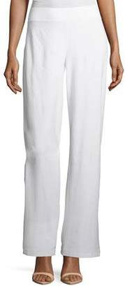 Eileen Fisher Washable Stretch Crepe Modern Wide-Leg Pants, Plus Size