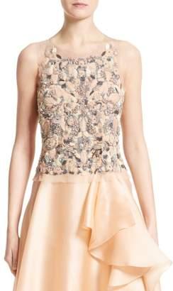 Badgley Mischka Couture Beaded Top