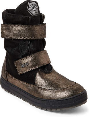 Naturino Kids Girls) Petrol & Black Gange Metallic Lined Boots