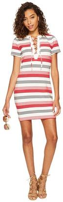 Jack by BB Dakota - Lijah Stripe Knit + Rib Trim Dress Women's Dress $75 thestylecure.com