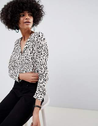 Selected Animal Print Blouse