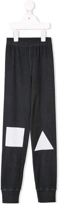 Nununu shapes print track pants