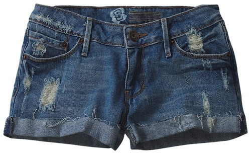 Bullhead Light Blue Destroyed Denim Short