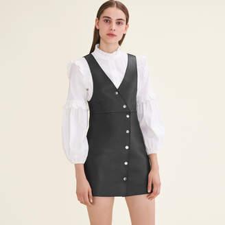 Maje Leather sleeveless dress