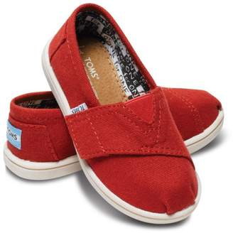 Toms (トムス) - TOMS 【子供】RED CANVAS TINY CLASSICS(C)FDB