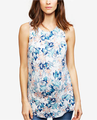 Tart Collections Maternity Floral-Print Sleeveless Top