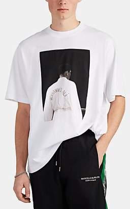 Marcelo Burlon County of Milan Men's Muhammad Ali Cotton Jersey T-Shirt - White
