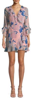 Red Carter Tessa Floral-Print Wrap Dress