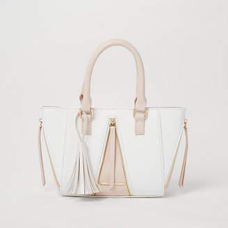 River Island Girls pink winged tote bag