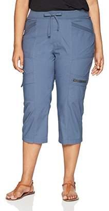 Lee Women's Plus Size Margeaux Knit Waist Cargo Capri Pant