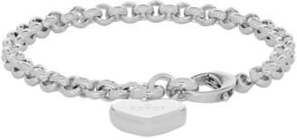 Gucci Silver Heart Bracelet
