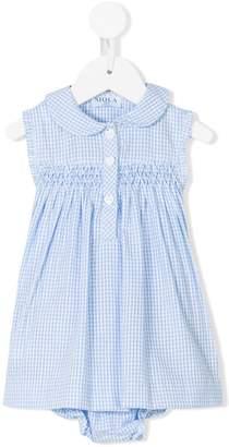 Siola sleeveless gingham dress