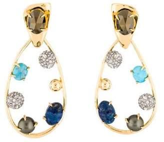 Alexis Bittar Multistone & Crystal Teardrop Drop Earrings yellow Multistone & Crystal Teardrop Drop Earrings