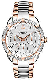 Bulova Ladies Two-Tone Diamond Accented Bracelet Watch $420 thestylecure.com