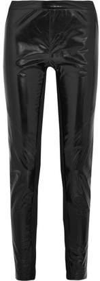 Gareth Pugh Stretch Jersey-paneled Glossed-leather Skinny Pants - Black