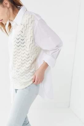 e6993aea Crisp White Long Sleeve Women Button Down Shirt - ShopStyle Australia