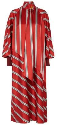 Roksanda Odelle Striped Satin Midi Dress