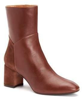 Aquatalia Point Toe Leather Booties