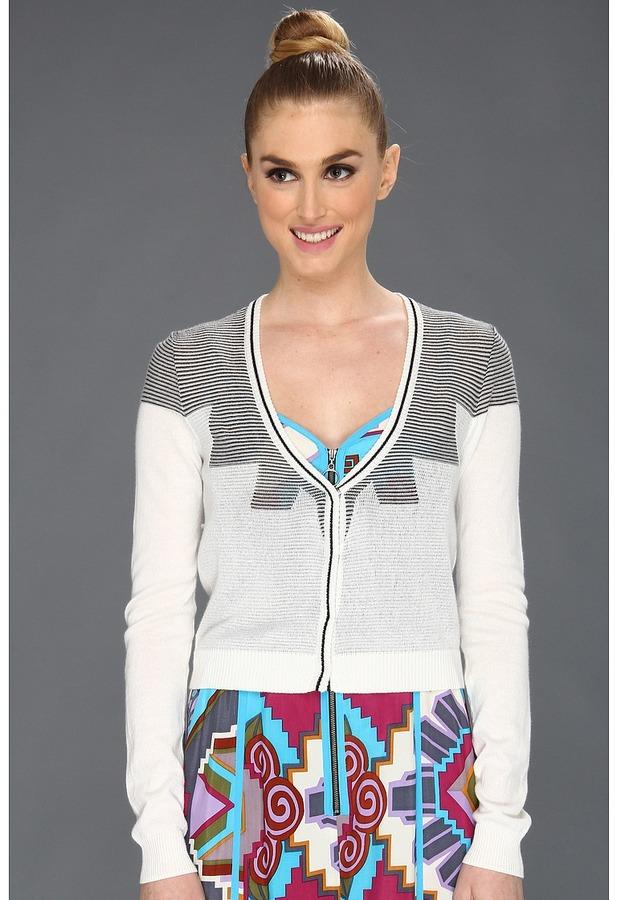 Nanette Lepore Lima Sweater (Ivory/Black) - Apparel