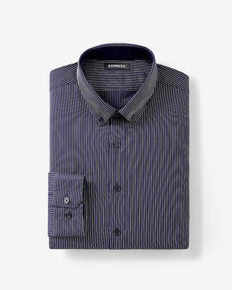 Express Extra Slim Fit Striped Performance Dress Shirt