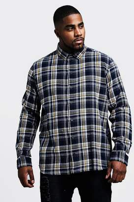 Big & Tall Regular Fit Long Sleeve Check Shirt